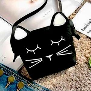 Mini Kitty Faux Leather Purse with Optional Strap